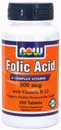 Folic Acid w/ B12 800 mcg, 250 count