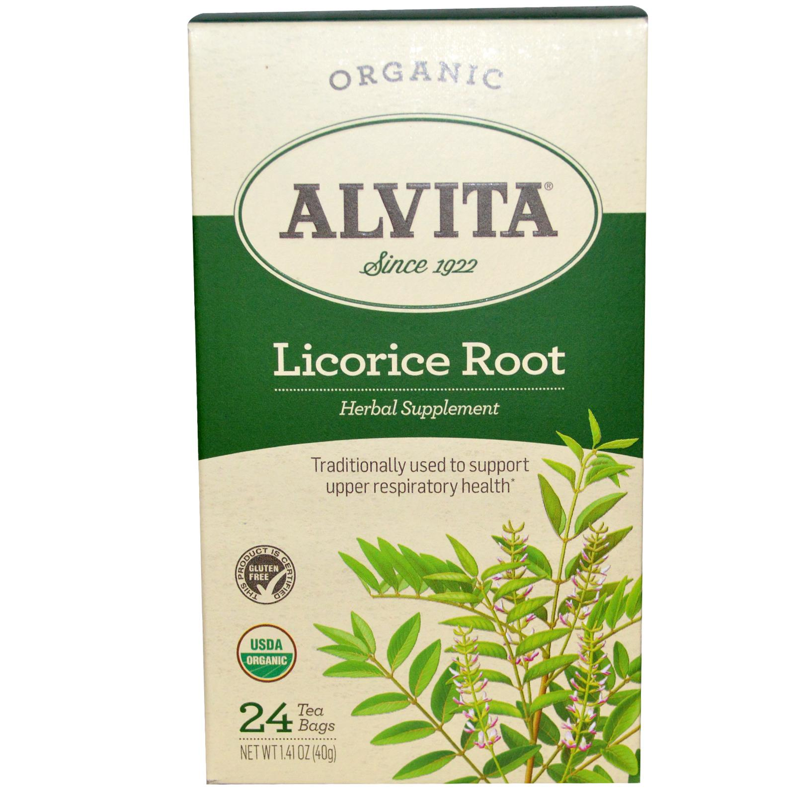 Alvita Tea Licorice Root 24 bags