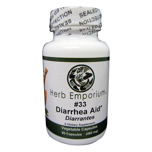 Formula #33 Diarrhea Aid 90 Vegetable Capsules