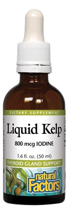 Liquid Kelp Iodine 1.6oz Natural Factors