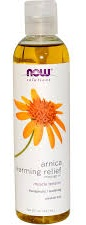 Arnica Warming Relief Massage Oil by Now