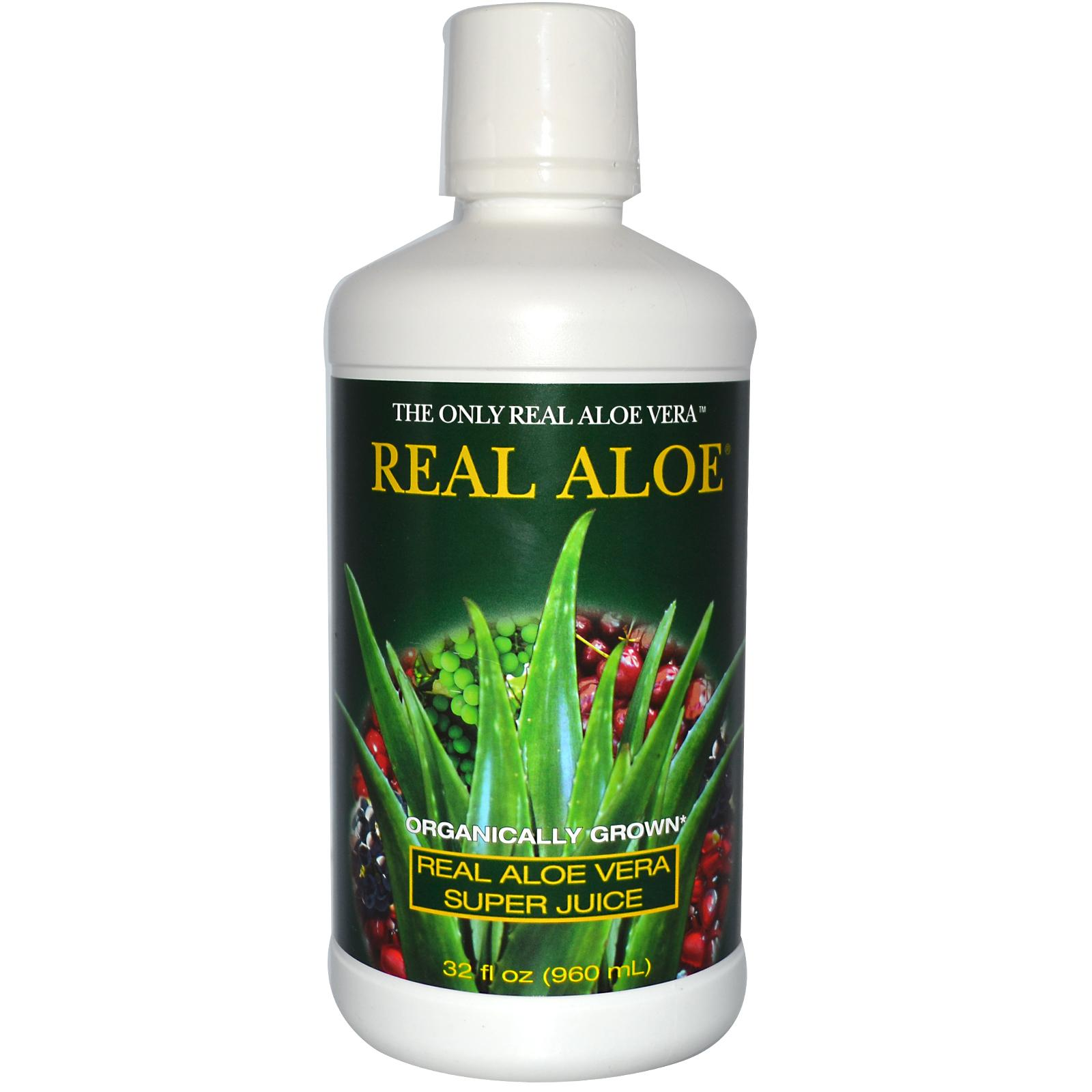 Real Aloe Vera Flavored Juice 32 oz