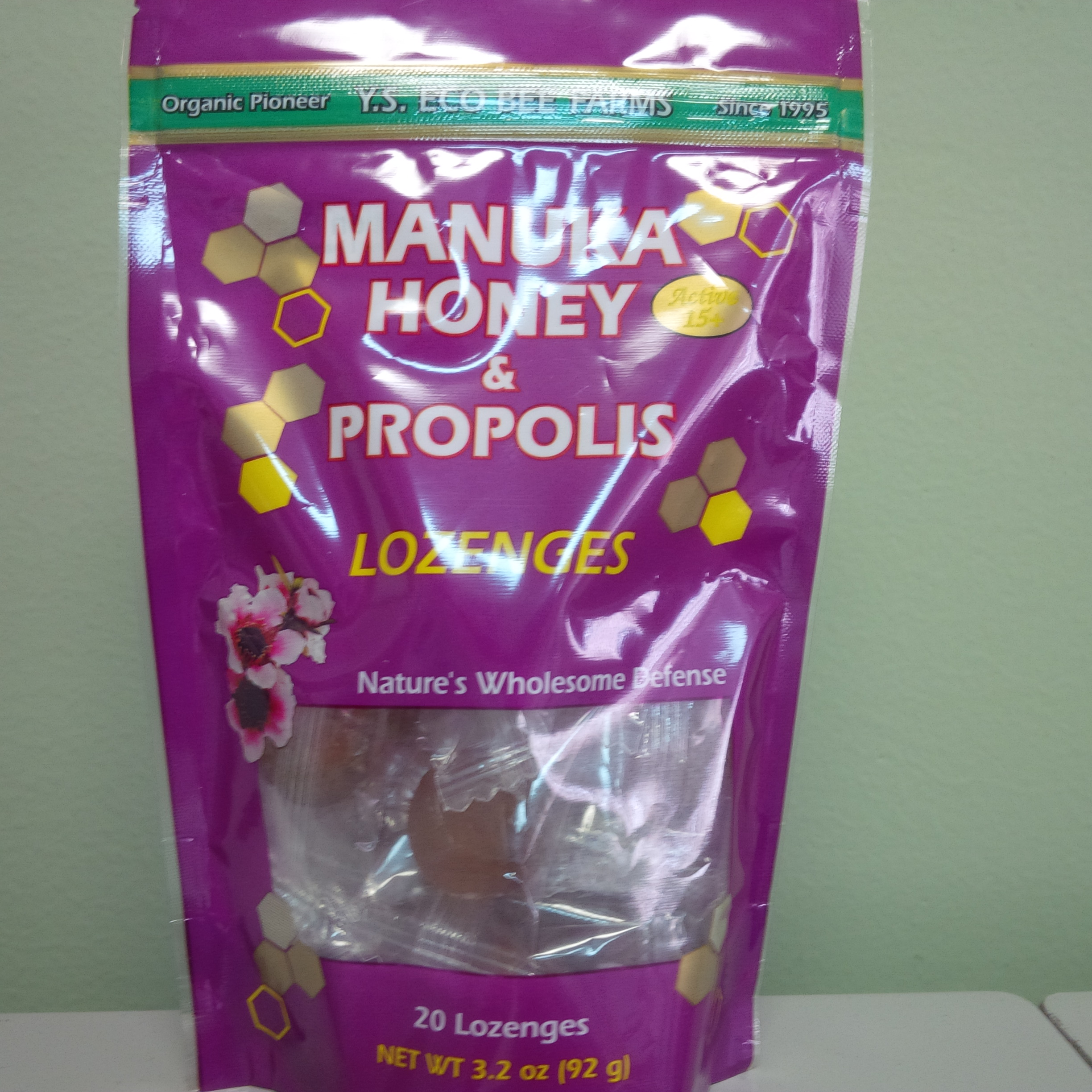 YS Manuka Honey & Propolis Lozenges Pouch