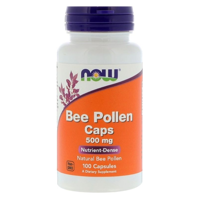 Bee Pollen 500mg by NOW, 100 capsules