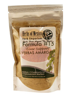 Formula # 15 Yerbas Amargas / Liver Support Stand Up Pouch 2 oz