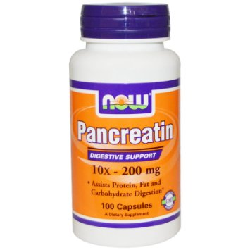 Now Pancreatin 10x 200mg